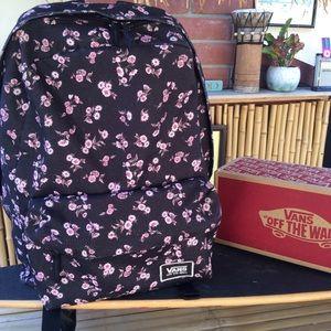 """Vans Canvas Backpack 16"""" X 14"""" X 4"""" Medium Size"""